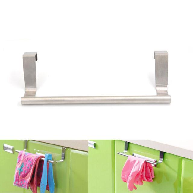 Wall Mounted Towel Rack Bathroom Hotel Rail Holder Storage Shelf ...