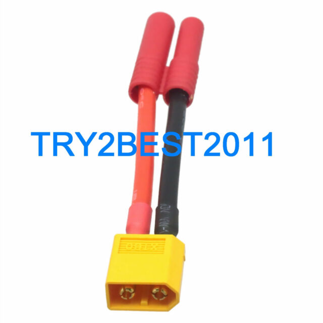 Xt60 Male to HXT 4mm 12 Gauge Female Bullet Connector Adapter Wire ...
