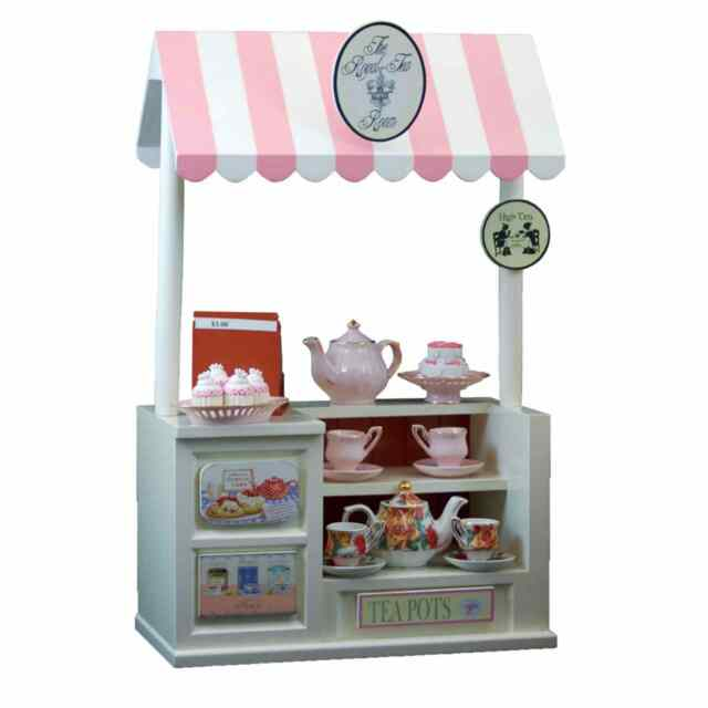 """Furniture And Accessories Outlet: 18"""" Doll ROYALTEA Room Shop 4 Teapots Fits American Girl"""