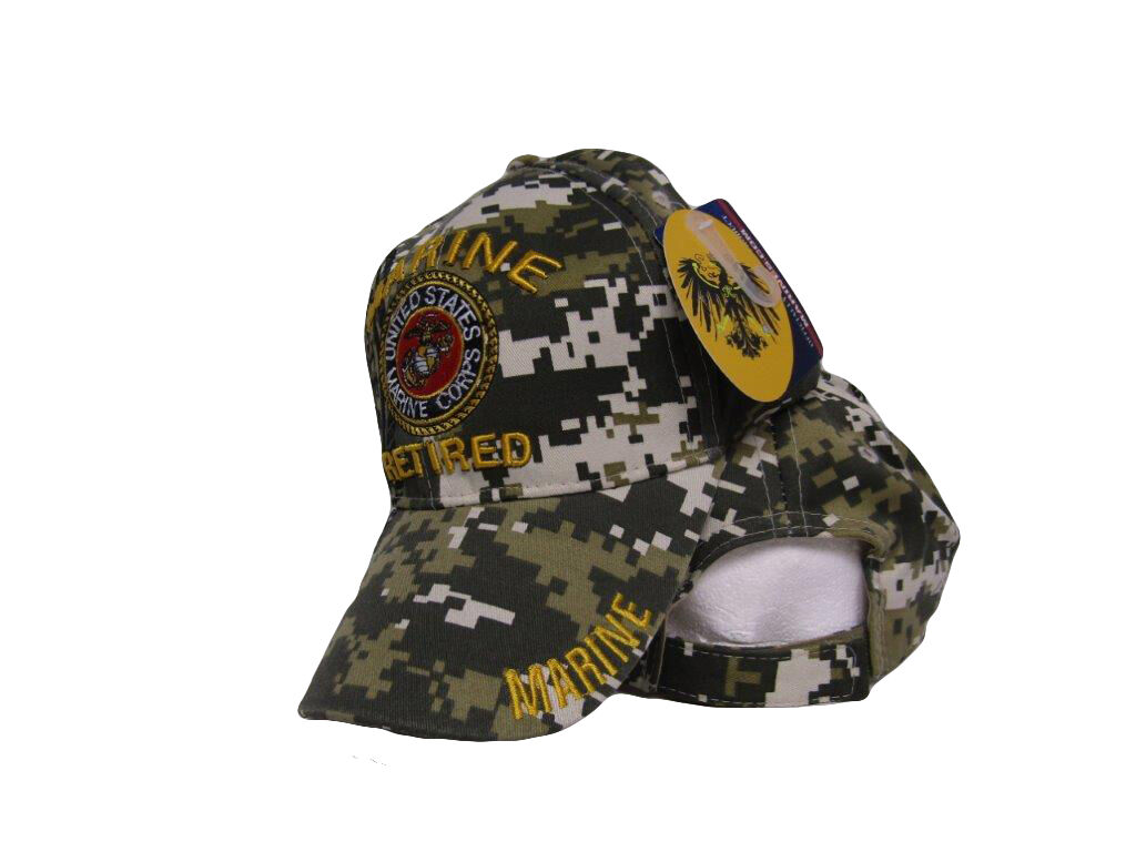 b5a1ff97e28 Embroidered ACU Camo USMC Marines Marine Retired Veteran Baseball ...