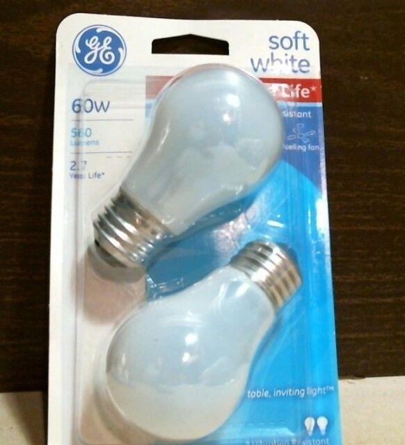 Ge double life 60 watt 560 lumens soft white ceiling fan light bulbs ge double life 60 watt 560 lumens soft white ceiling fan light bulbs 2 aloadofball Image collections