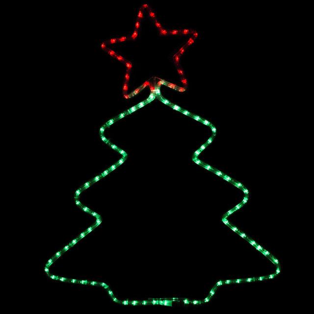 Led rope light inoutdoor star christmas tree shape decorative led star christmas tree shape rope light inoutdoor holiday xmas party decor aloadofball Choice Image