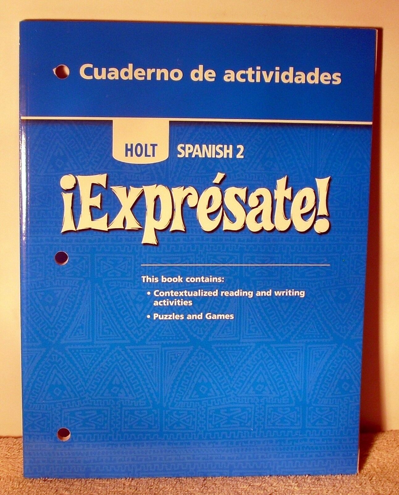 Holt spanish 3 expresate study guide array expr sate expresate spanish 2 by rinehart and winston staff fandeluxe Choice Image