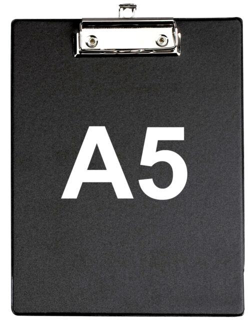 Maul Klemmbrett Schreibplatte schwarz DIN A5 mit Folienüberzug 185c 2335390
