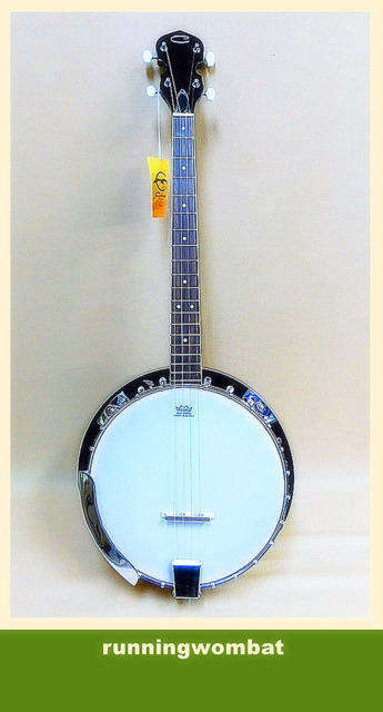 Caraya Tenor 4-String Banjo BJ-004 + Gig Bag