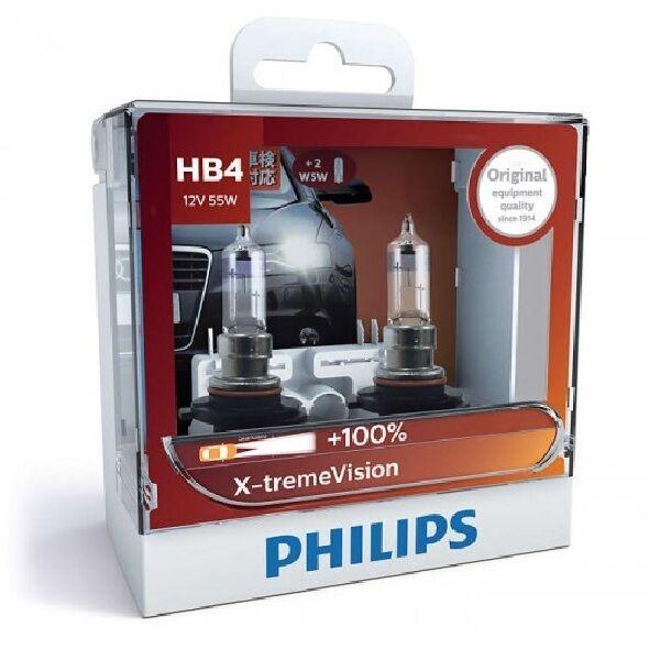 Philips HB4 X-TREME Vision Car Bulb Headlight Globes 100% More Maximum Legal