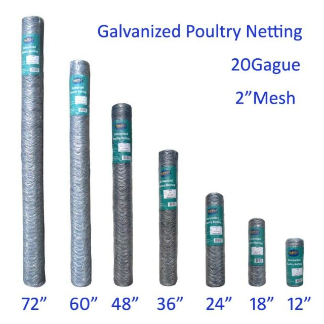 MTB Galvanized Metal Hexagonal Poultry Netting Chicken Wire Fence 2 ...
