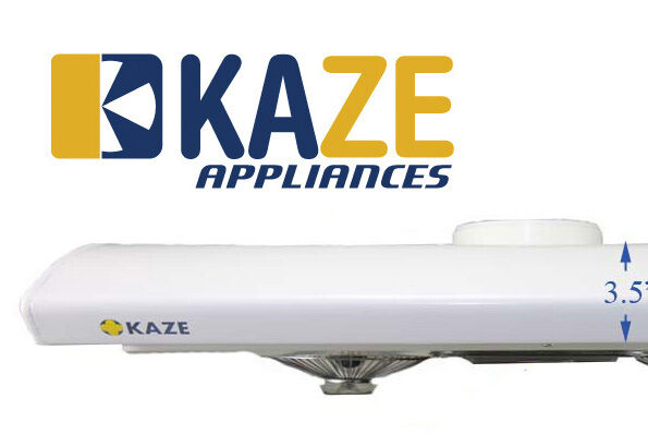 KAZE K202 30 Inch White Slim Under Cabinet Kitchen Range Hood Fan Exhaust  Vent