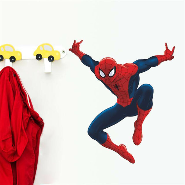 Spider man wall sticker 3d decal wallpaper poster decor for childrens room