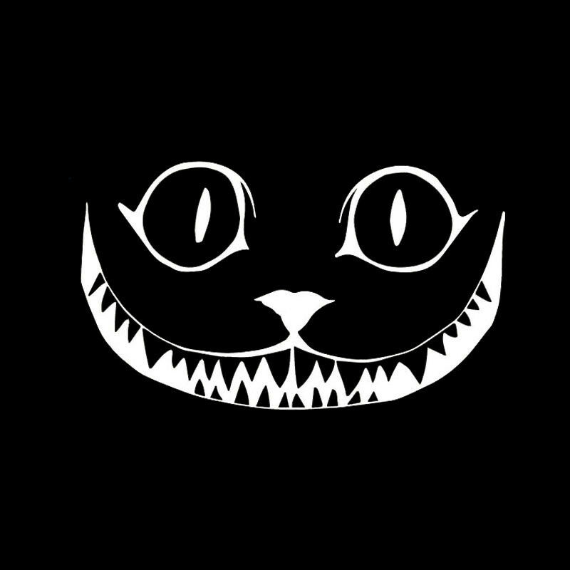 Cheshire Cat Vinyl Decal Sticker Car Window Wall Alice In - Cat custom vinyl decals for car windows