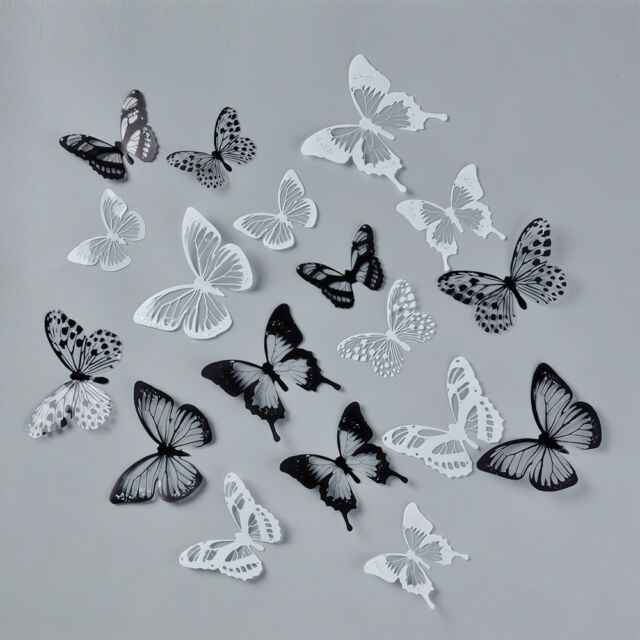 18pcs DIY 3D Butterfly Wall Stickers Art Decal PVC Butterflies Home Decor