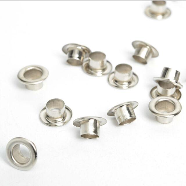 100pcs Metal eyelets Scrapbooking DIY Embelishment Garment Clothing Craft Silver