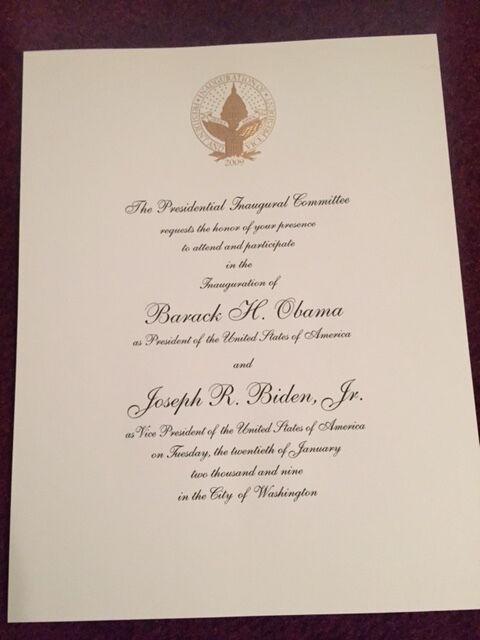 Official inauguration invitation barack obama president ebay official inauguration invitation barack obama president stopboris Gallery