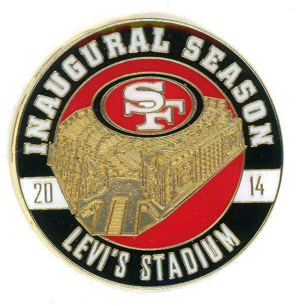 Pin 49 Ers Levi S Stadium Inaugural Season Le 125 Sf Forty Niners