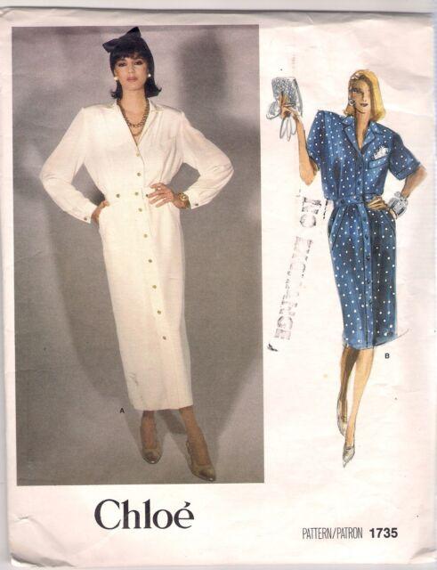 Vogue DESIGNER Sewing Pattern 1735 Chloe Vintage Top and Skirt Size ...