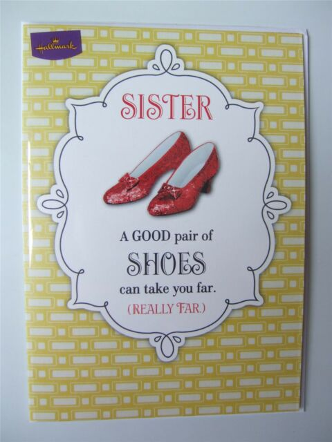 Wizard Of Oz Birthday Card For A Sister By Hallmark 11009511 Ebay