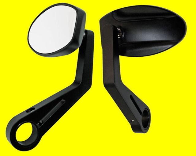 Lenkerendenspiegel schwarz Ferrara Streetfighter Custom Spiegel Universal NEU