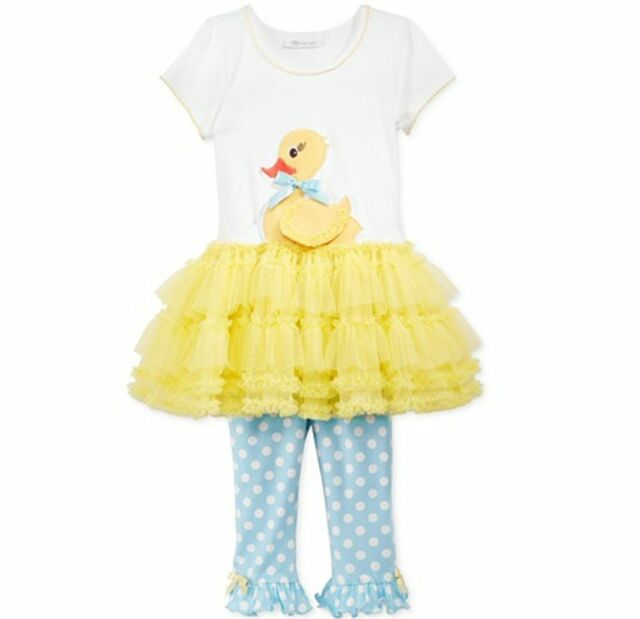 Bonnie Jean Spring Ducky Duckling Yellow Tutu Dress Leggings Outfit 4 5 6 6X  sc 1 st  eBay & Bonnie Jean Spring Ducky Duckling Yellow Tutu Dress Leggings Outfit ...