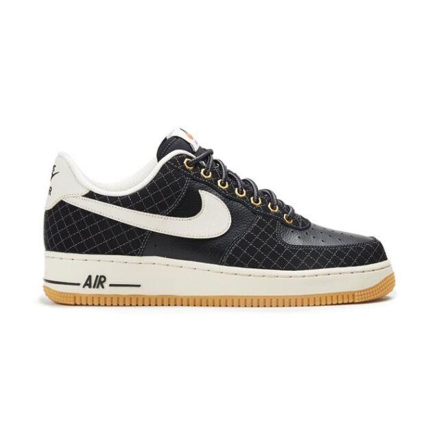 Size 13 Nike Men Air Force 1 Low 488298 095 Black White Tan
