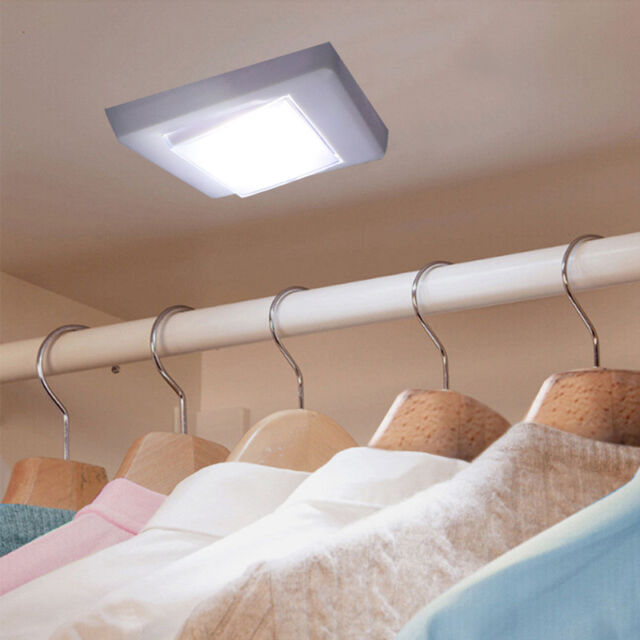 closet lighting battery. 1X 3W COB LED Wall Switch Wireless Closet Cordless Night Light Battery Operated Lighting