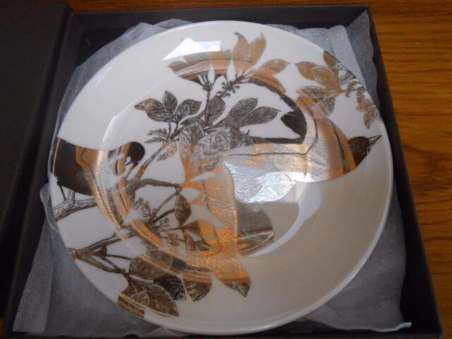 Caskata Artisanal Tableware Canape Plates BNIB Made USA Arbor Birds SHIPS FREE & Caskata Artisanal Tableware Canape Plates Made USA Arbor Birds Ships ...