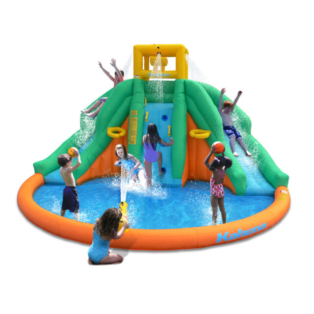 Inflatable Water Slide With Price: Giant Inflatable Water Park Kids Bouncer House Backyard
