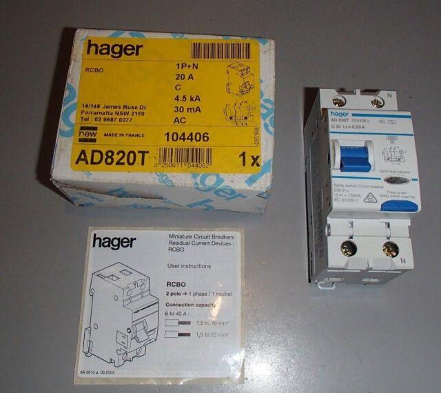 GFCI 20 Amp Breaker - Hager AD820T | eBay