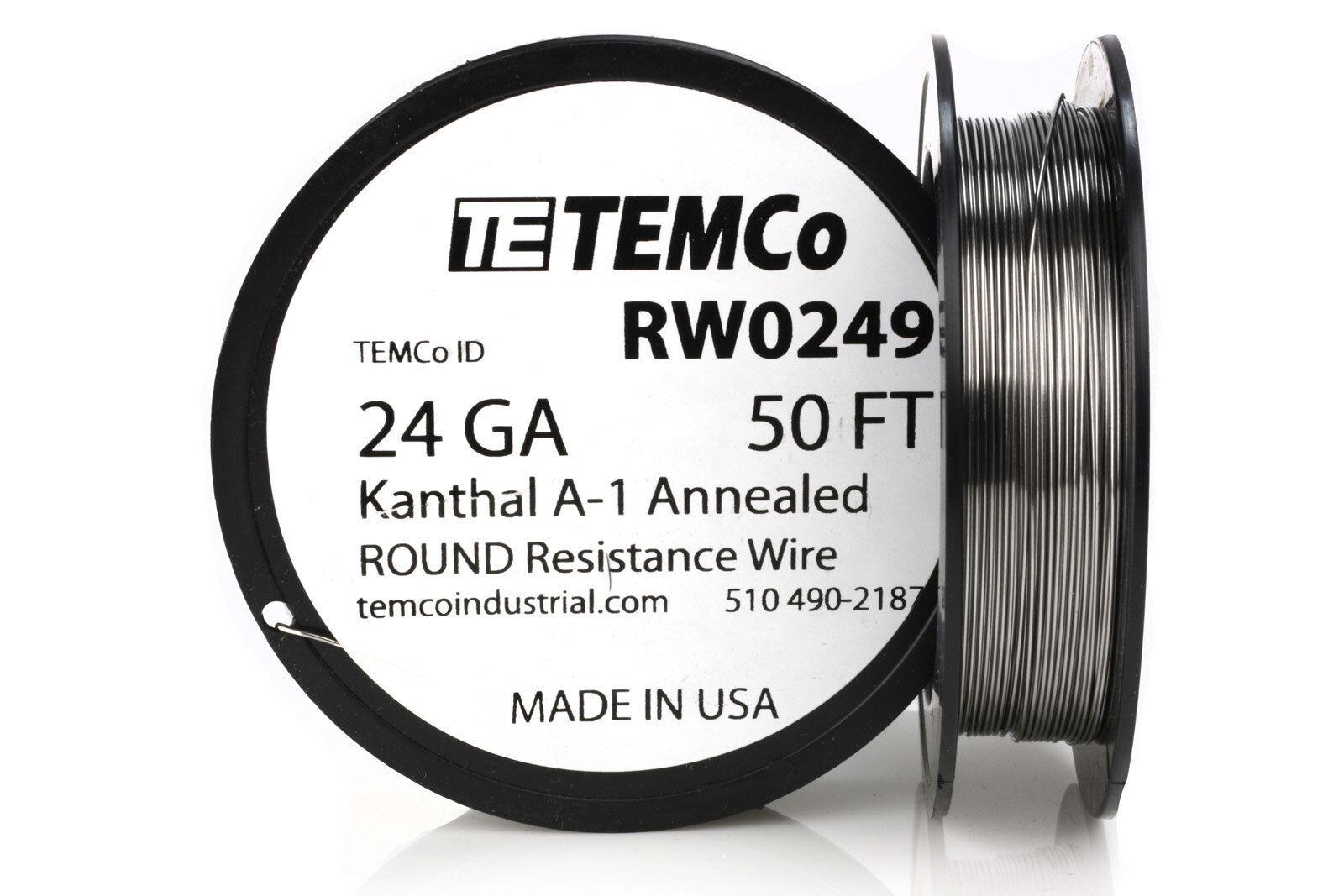 Temco Kanthal A1 Wire 24 Gauge 50 FT Resistance AWG A-1 GA | eBay