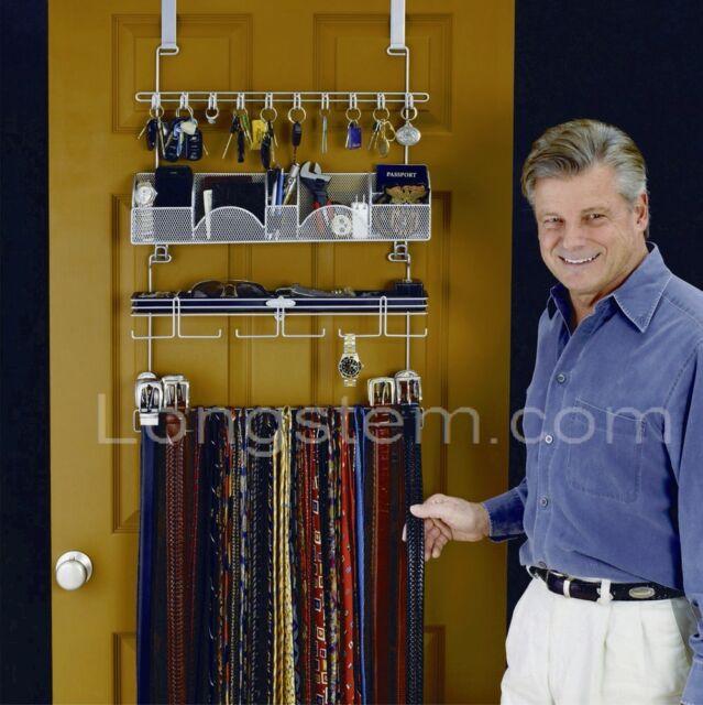 Longstem Tie Belt Accessory Overdoor Valet Holder Hanger Organizer
