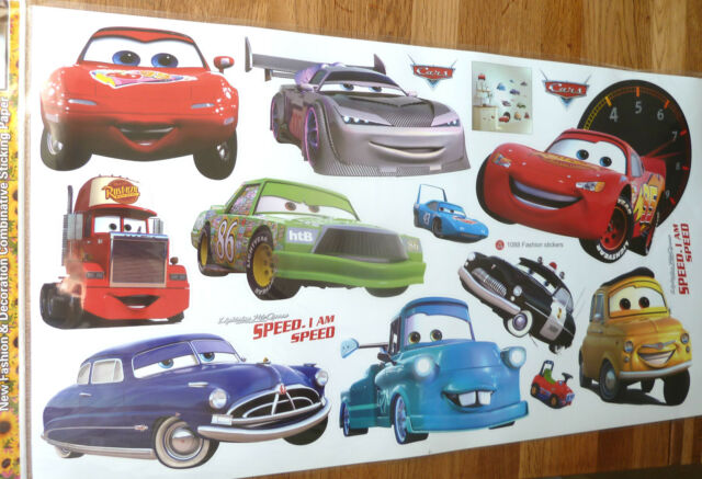 LARGE DISNEY CARS LIGHTNING MCQUEEN WALL STICKER DECAL NURSERY/KIDS ROOM  XMAS Part 70