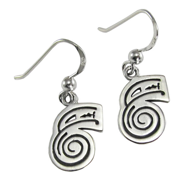 Sterling Silver Dai Ko Myo Reiki Healing Attunement Symbol Earrings