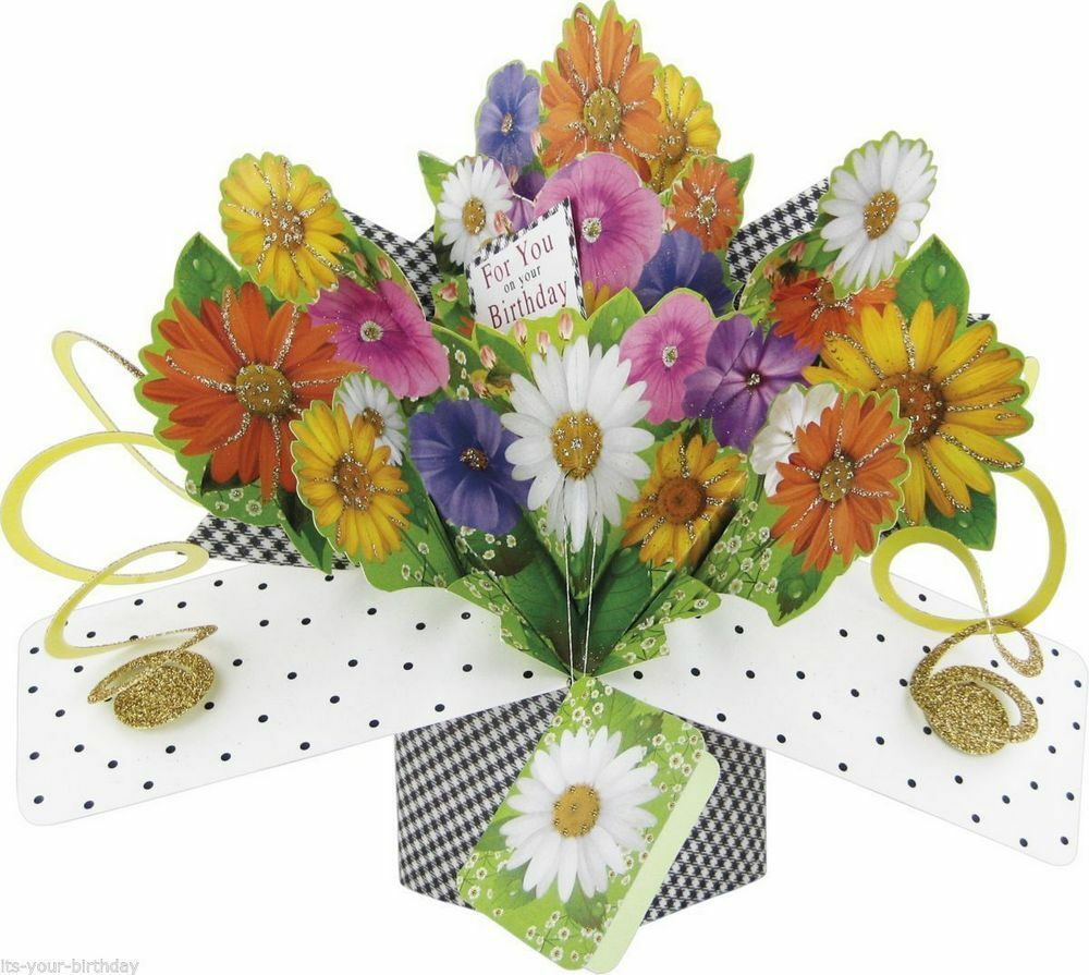 3d Second Nature 30th Birthday Keepsake Pop Up Cards Flowers For You