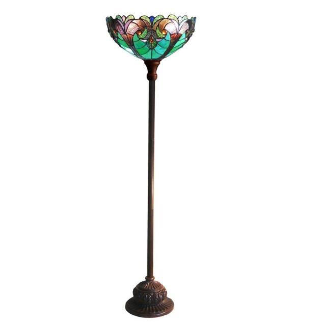 Stained glass chloe lighting victorian 1 light torchiere floor lamp stained glass chloe lighting victorian 1 light torchiere floor lamp 15 shade aloadofball Gallery