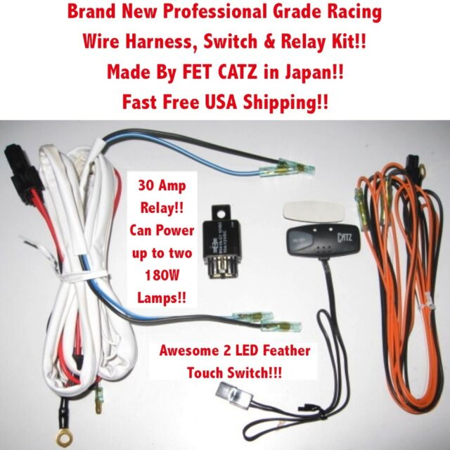 wiring harness 4 catz hella piaa bosch kc fog lights ft ebay rh ebay com piaa 80 series wiring harness piaa wiring harness diagram