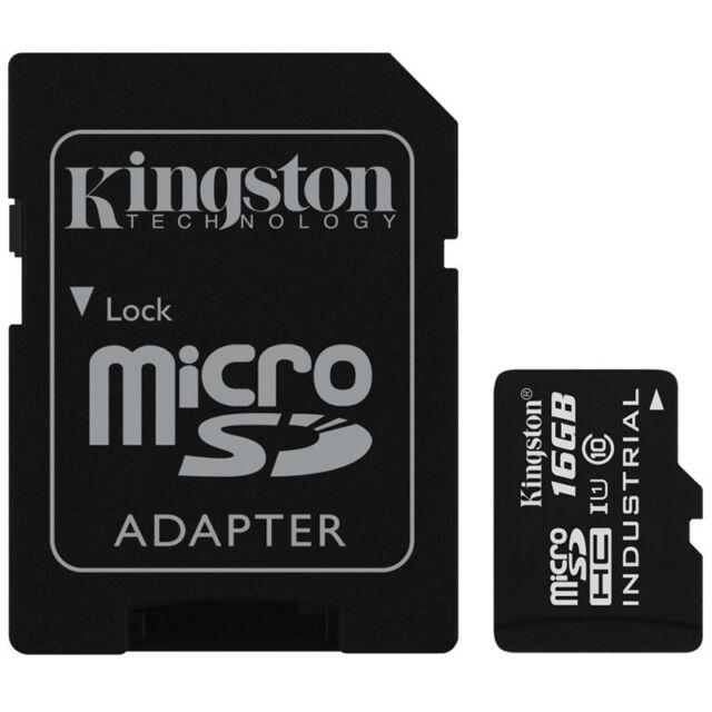 Kingston 16GB Industrielle Temperatur Micro SDHC Speicherkarte UHS-I U1 90mb/s