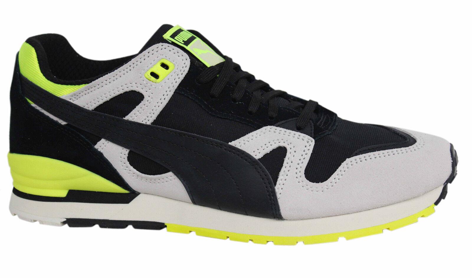 Puma DUPLEX OG NERO GRIGIO GIALLO con lacci scarpe da ginnastica in pelle uomo