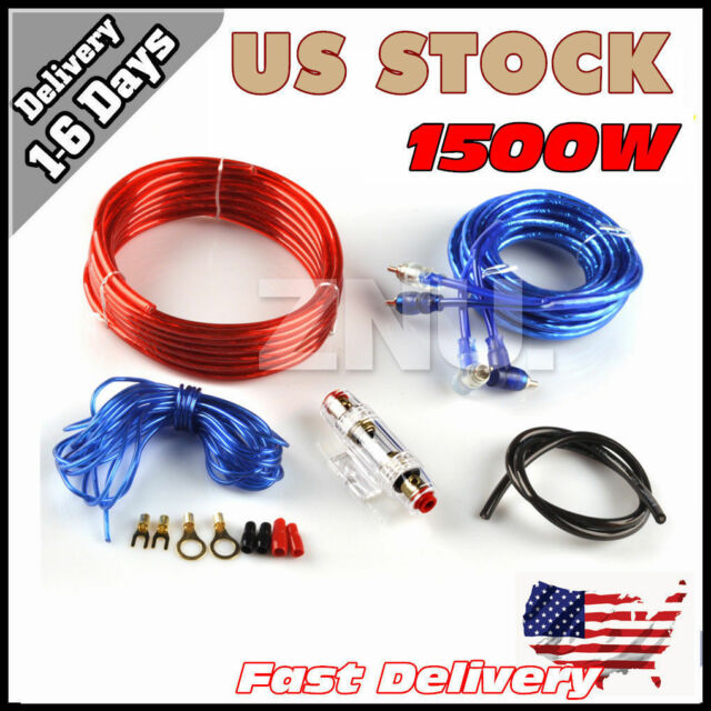 8ga ruse car audio subwoofer sub amplifier amp wiring kit power rh ebay com car audio wiring kit walmart good wiring kit car audio