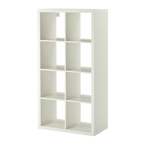 Ikea kallax shelving unit white bookcase display cabinet case modern expedit ebay - Kallax 4 cases ...