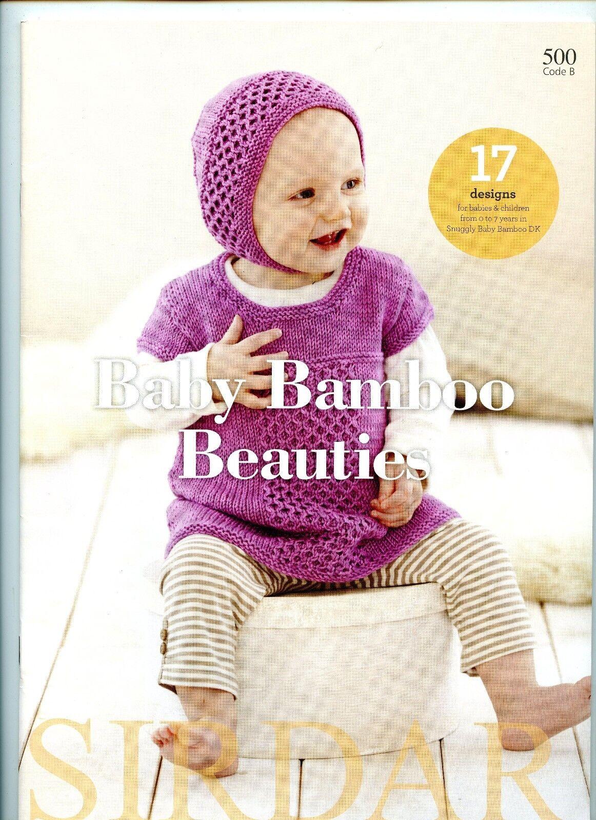 Baby Bamboo Beauties Sirdar Knitting Pattern Book 500 - 17 Designs ...