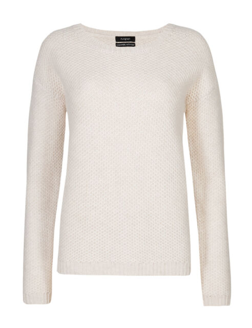 Ladies Marks & Spencer Autograph Cashmere With Silk Pale Neutral ...