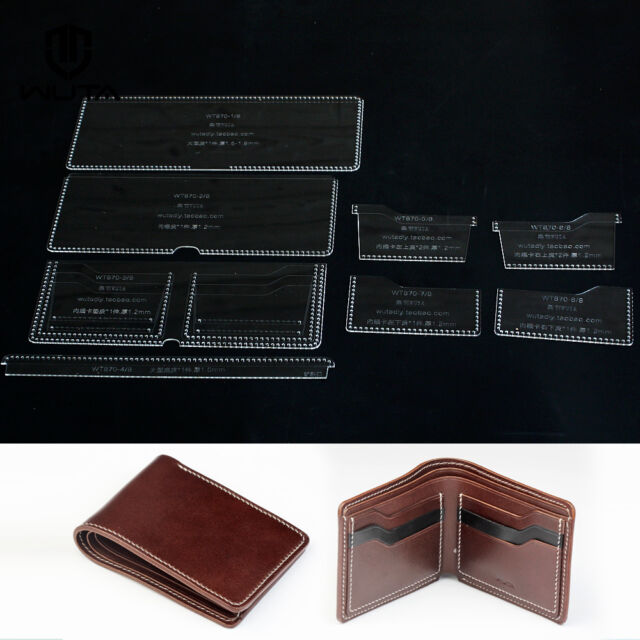 Wuta wallet leather template set acrylic pattern sheets for Leather sheets for crafting