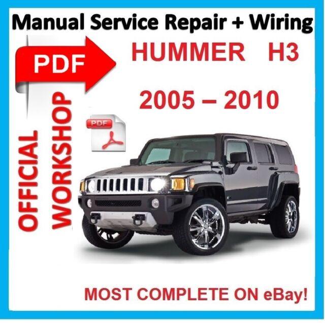 official workshop manual service repair for hummer h3 2005 2010 ebay rh ebay com Hummer H3 Interior haynes repair manual hummer h3