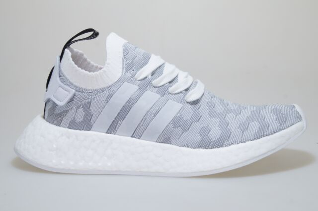 7aeb17eb6b275 adidas NMD R2 PK W BY9520 Grey Primeknit Trainers Shoes Originals Women 38  2 3
