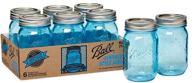 ball 16 oz mason jars. ball jar heritage collection pint canning mason jars blue glass w/ lids 6 set | ebay 16 oz