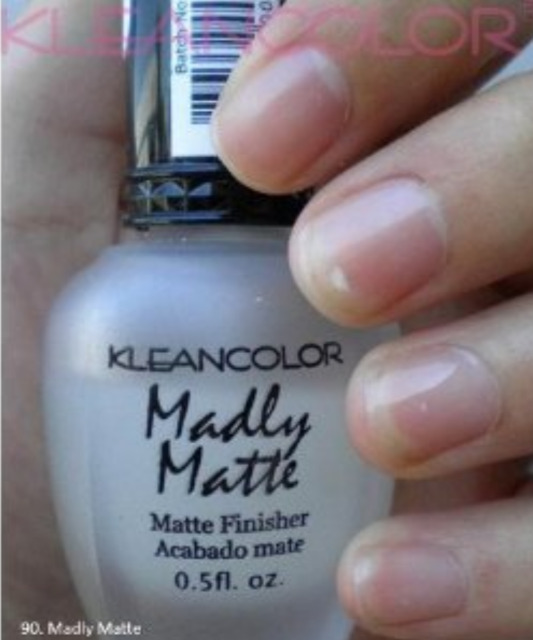 KleanColor Madly Matte Clear Finisher Top Coat Nail Polish Manicure ...