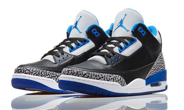 Nike Air Jordan 3 III Retro Sport Blue Cement size 11. 136064-007 1
