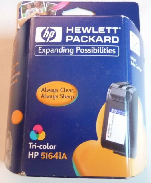 New Authentic Hewlett Packard HP 51641A / 41 Tri-Color Ink Jet InkJet Exp 2/02
