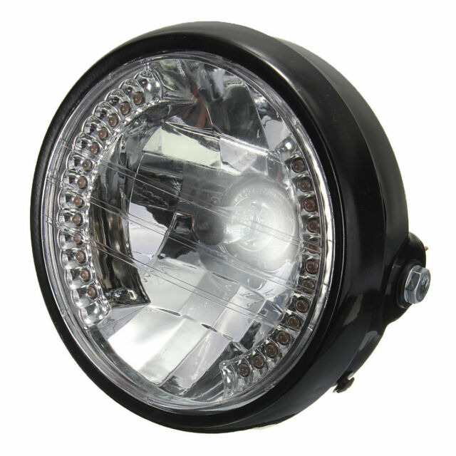 7 Inch Motorcycle Round Headlight Halogen H4 Bulb Head Lamp For HARLEY BOBB J6P3
