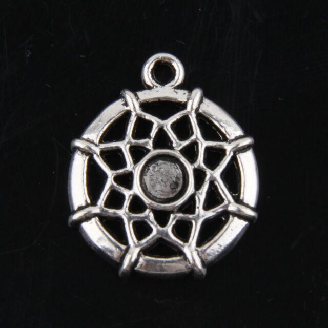 22pcs tibetan silver dreamcatcher pendants charms for jewelry making 22pcs tibetan silver dreamcatcher pendants charms for jewelry making 18mm abf2 aloadofball Choice Image