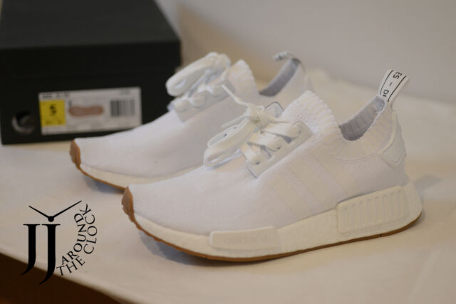 adidas unisex nmd r1 shoes whitegum